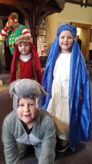 Messy Nativity. Alifie, Eleanor & Sam.