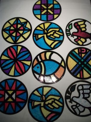 Messy Church's painted roundels