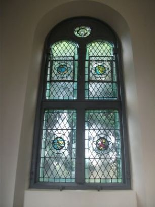 One of the windows with new roundels