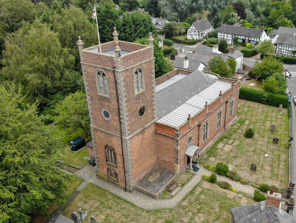 St Bart's from the air. 2018