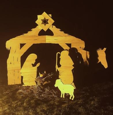 Wooden Xmas Nativity Scene 2020